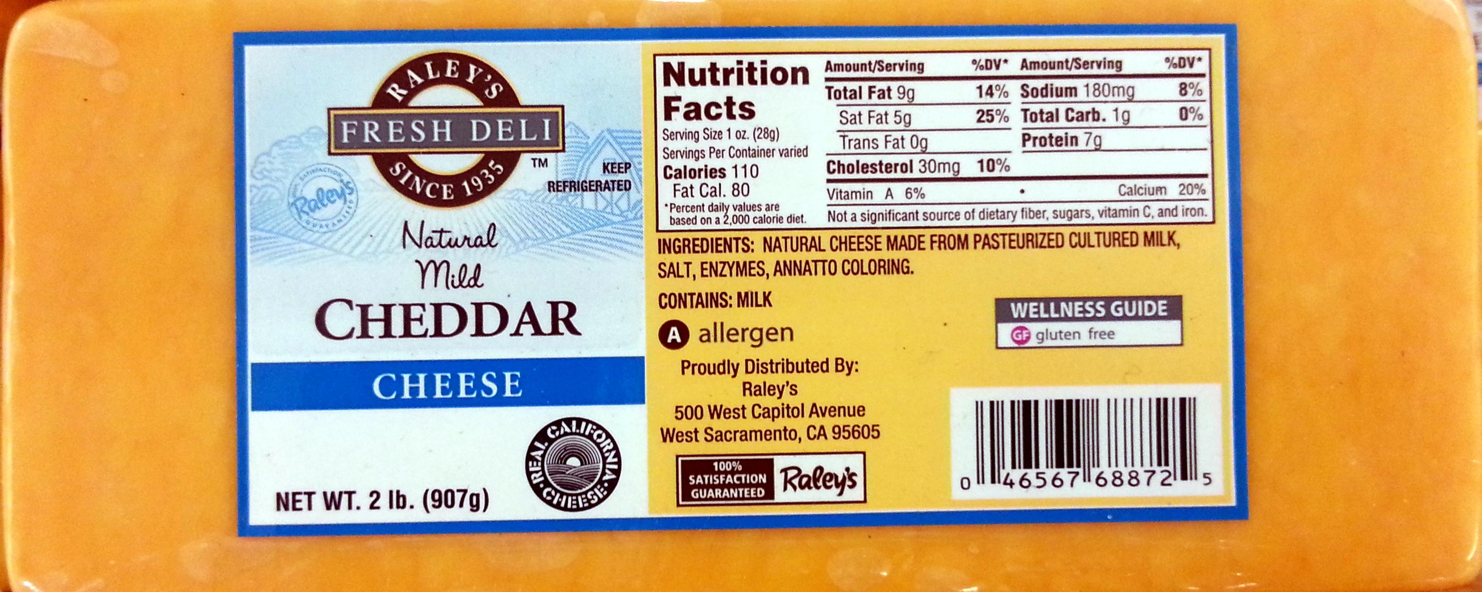Natural Mild Cheddar Cheese