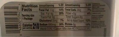 Lunchmakers ham cracker crunchers - Nutrition facts - en