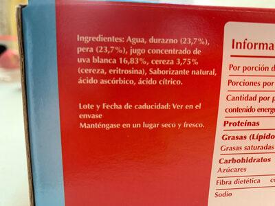Frutas mixtas - Ingredientes - es