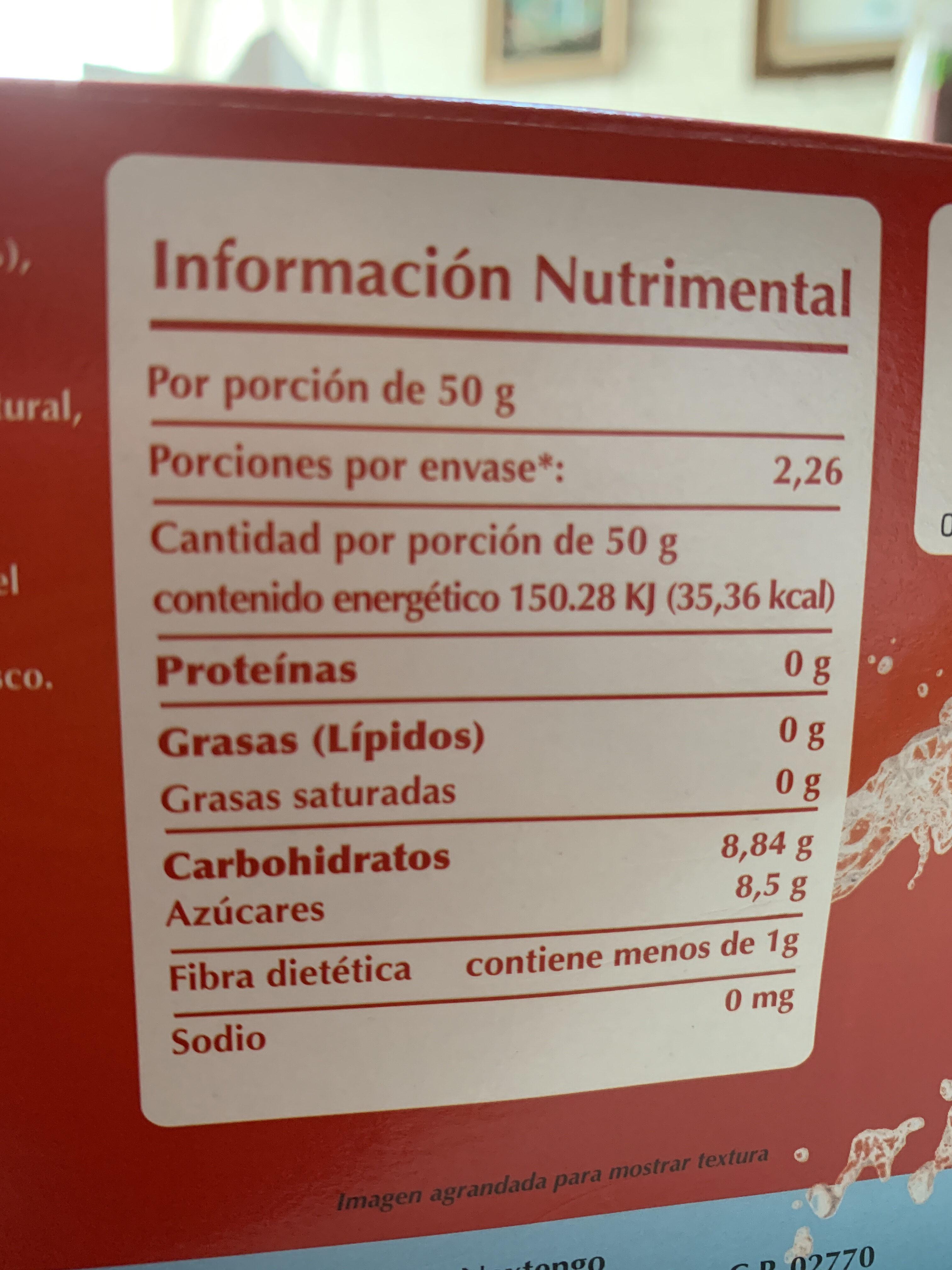 Frutas mixtas - Información nutricional - es
