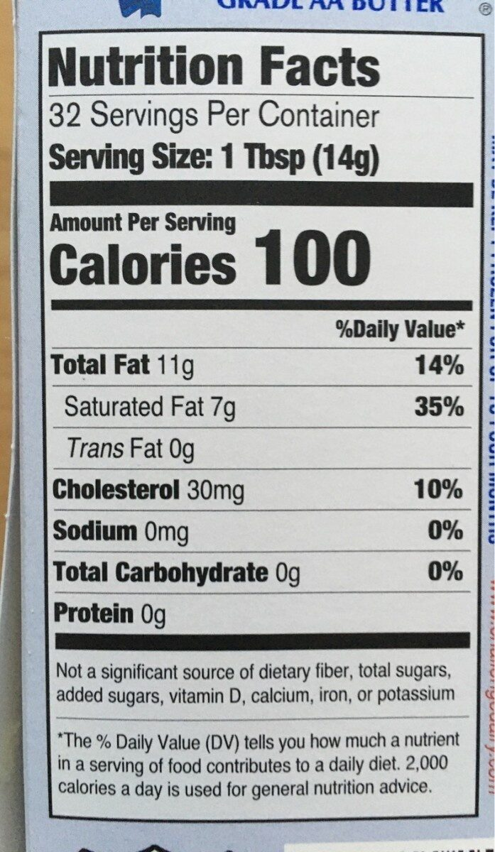 Unsalted Butter - Nutrition facts - en