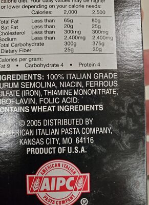 pasta labella - Ingredients - en