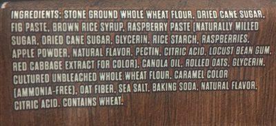 Fig Bar Raspberry - Ingredients