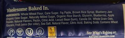 Stone ground whole wheat fig bar, blueberry - Ingredients - en