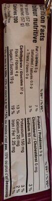 Barre aux figues - Informations nutritionnelles - en