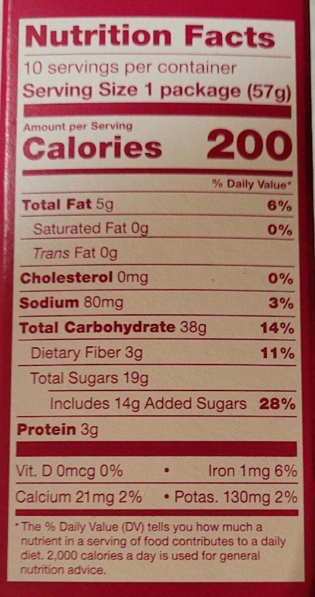 Fig Bar - Nutrition facts - en