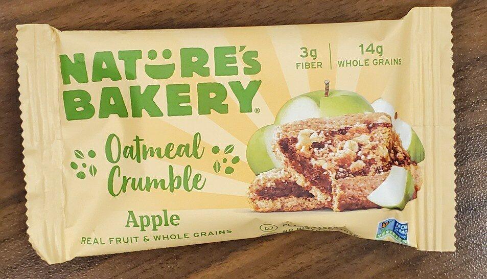 nature's bakery oatmeal crumble apple - Ingredients - en