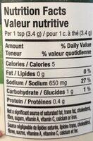Vegetable stock - Informations nutritionnelles - fr