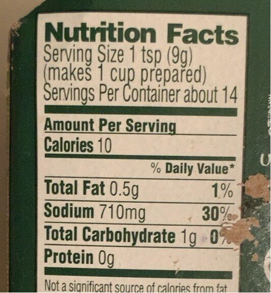 Homestyle stock Beef - Nutrition facts - en