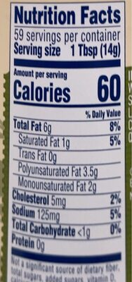 Best foods, mayonnaise dressing with olive oil - Nutrition facts - en