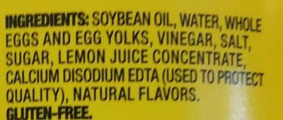 Mayonnaise - Ingredients - en