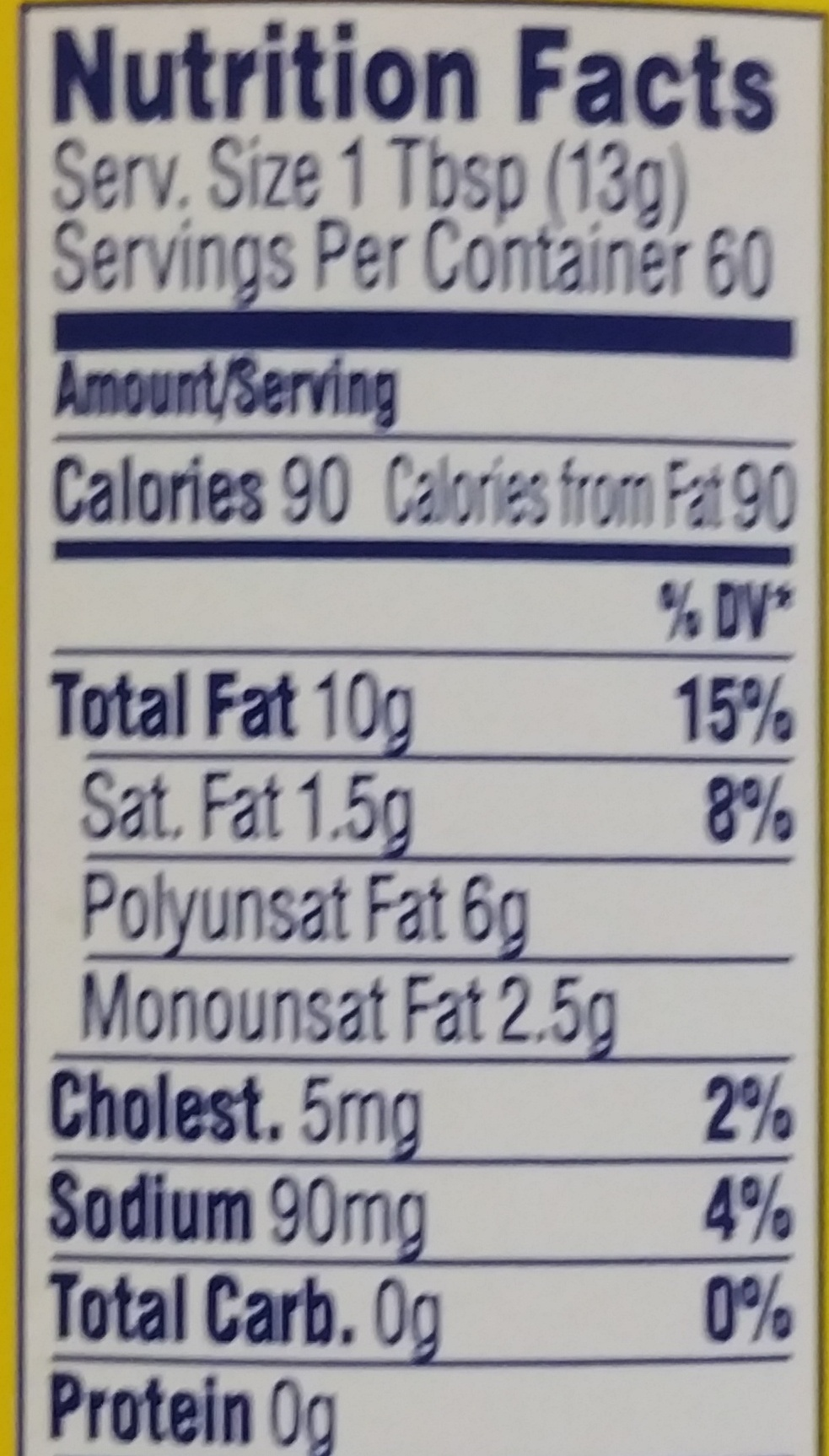 Mayonnaise - Nutrition facts - en