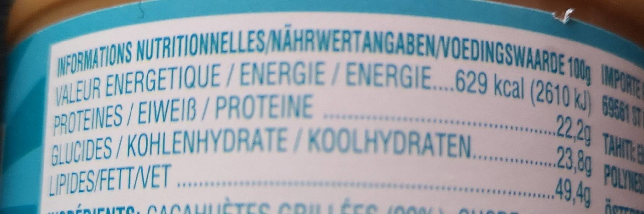 Skippy Smooth - Informations nutritionnelles - fr