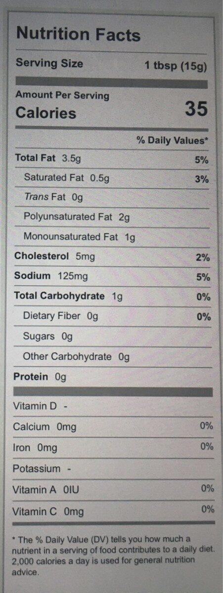 Hellmann's, light mayonnaise - Nutrition facts - en