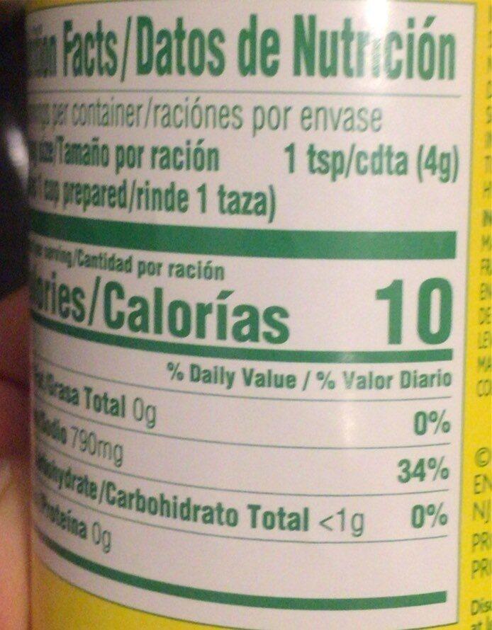 Beef flavor bouillon - Nutrition facts - en