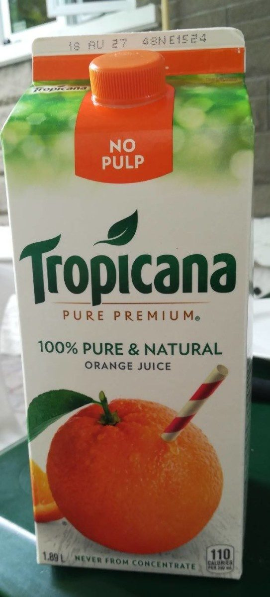 Tropicana Original Orange Juice No Pulp 1.89L - Produit - fr