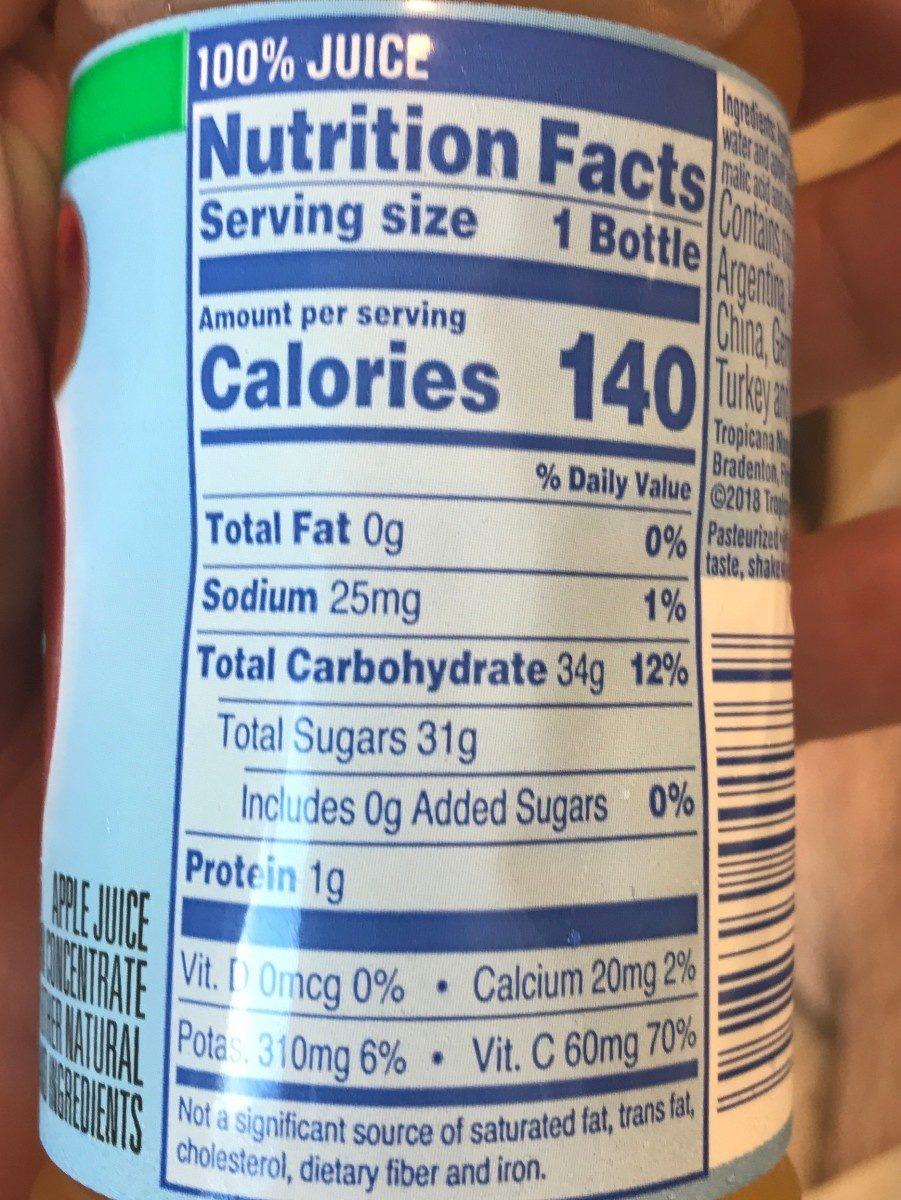 Tropicana Orange Juice - Ingredients