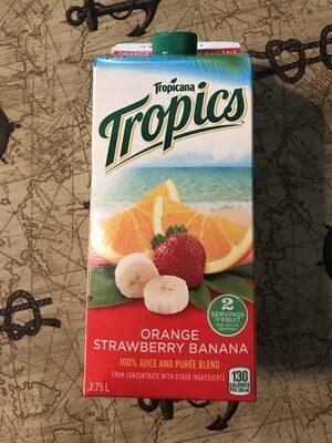 Jus Tropics (orange, Fraise, Banane) - Product - fr