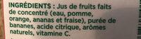 Jus Tropics (orange, Fraise, Banane) - Ingredients - fr