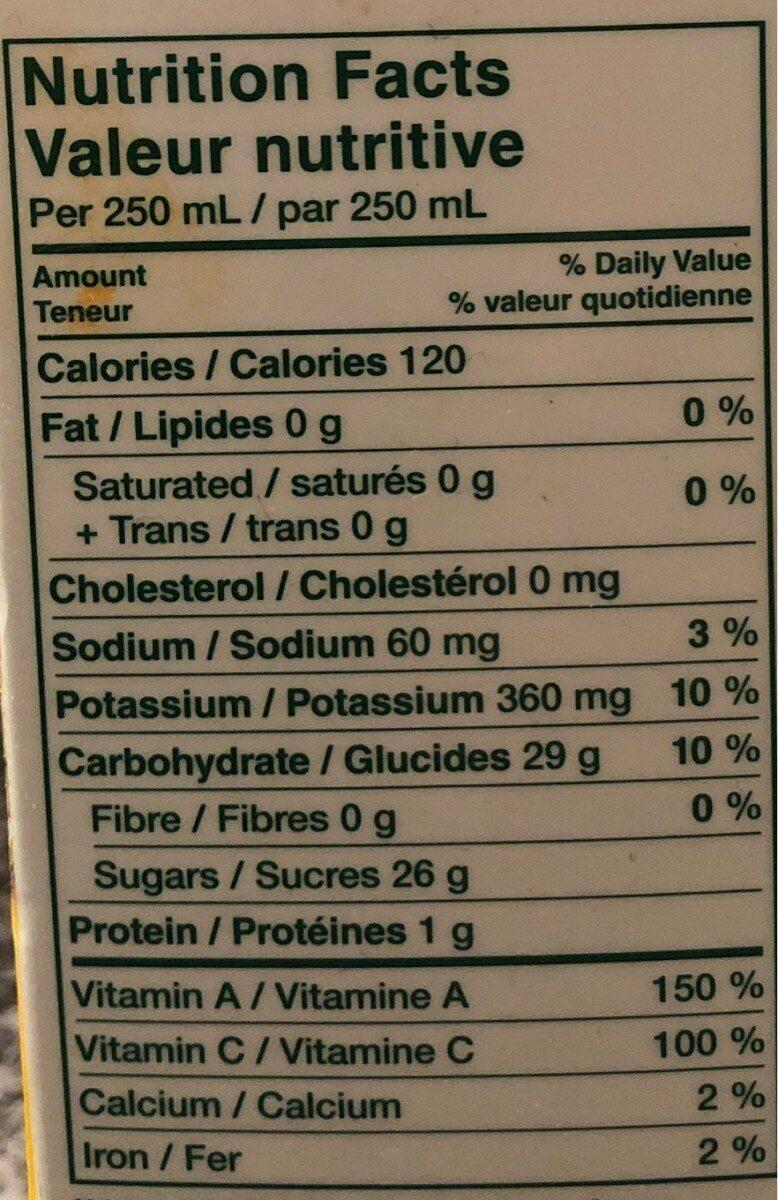 Jus Tropics (mélange Du Paradis) - Nutrition facts - fr