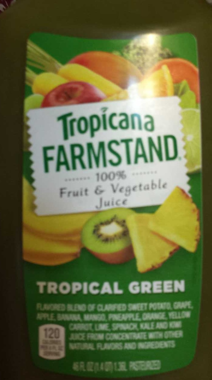 Tropicana farmstand tropical green fruit and vegetable juice - Product - en