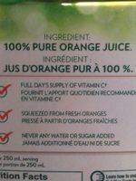 Jus d'orange à 100% - Ingredients - fr