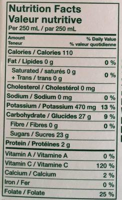 Homestyle Orange Juice Some Pulp - Nutrition facts - en
