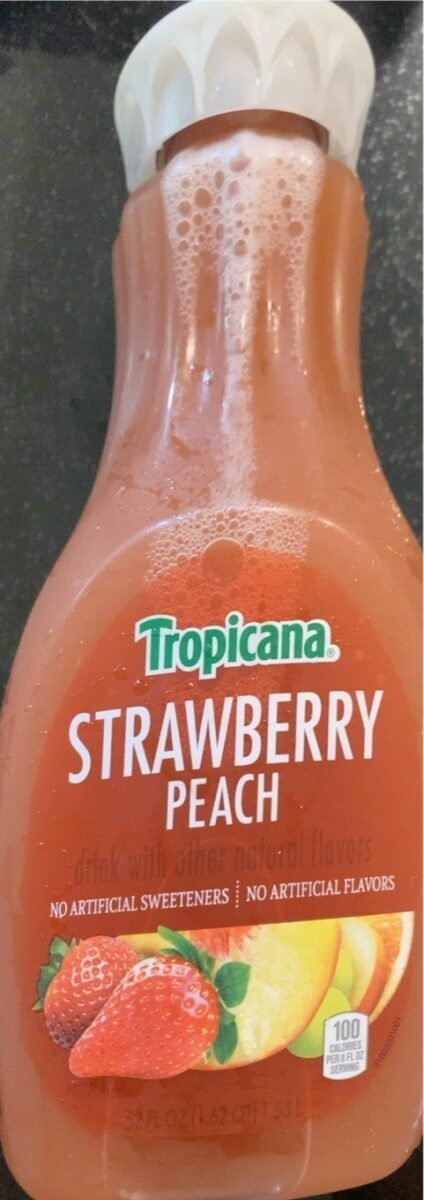 Strawberry peach drink with other natural flavors - Produit - en