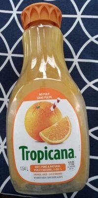 Tropicana jus d'orange pur et naturel à 100% - Product - en
