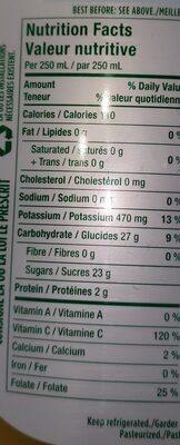 Jus d'orange - Ingredients - en