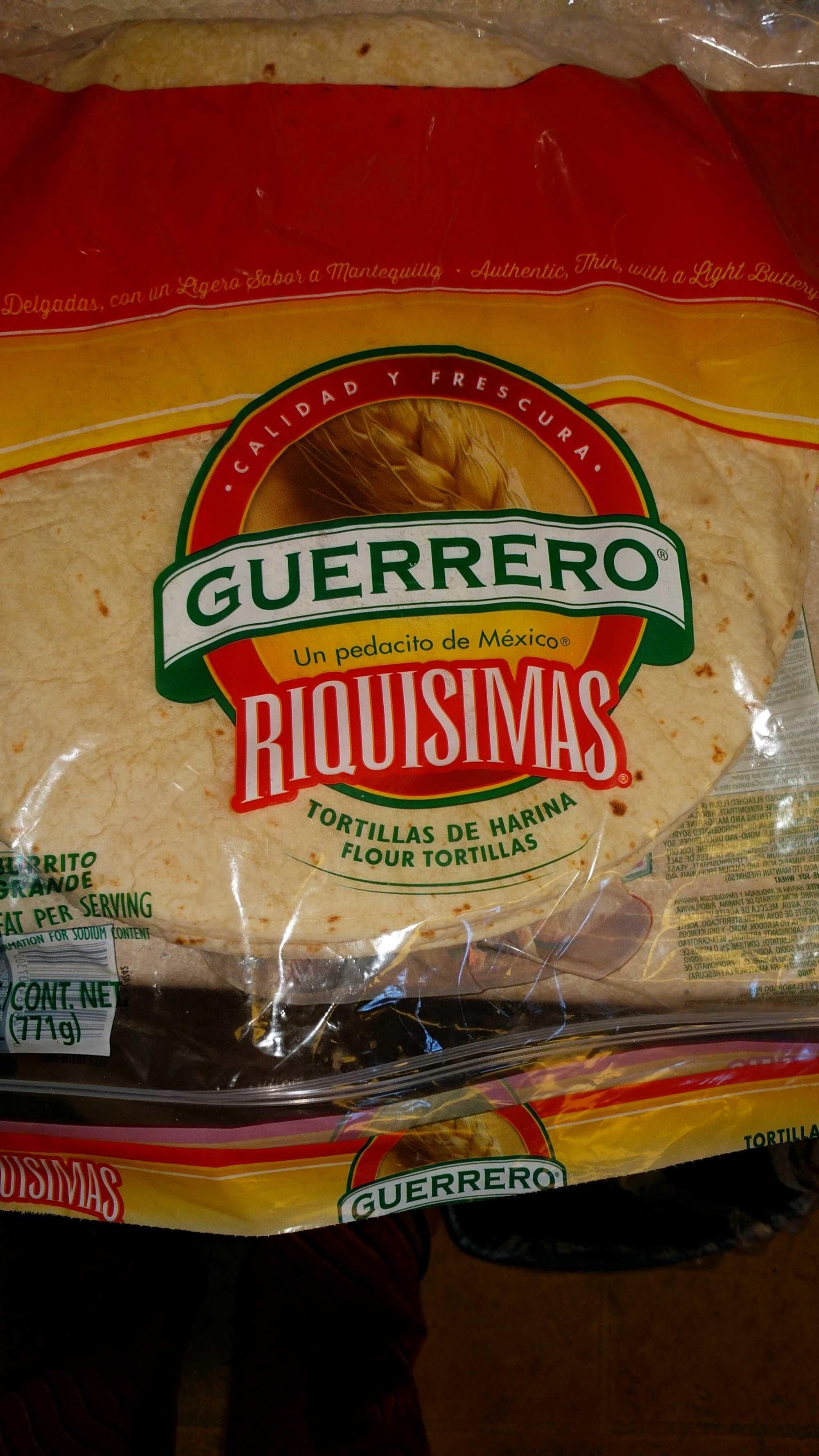 Guerrero Burrito Flour Tortillas Guerrero Tortilleria