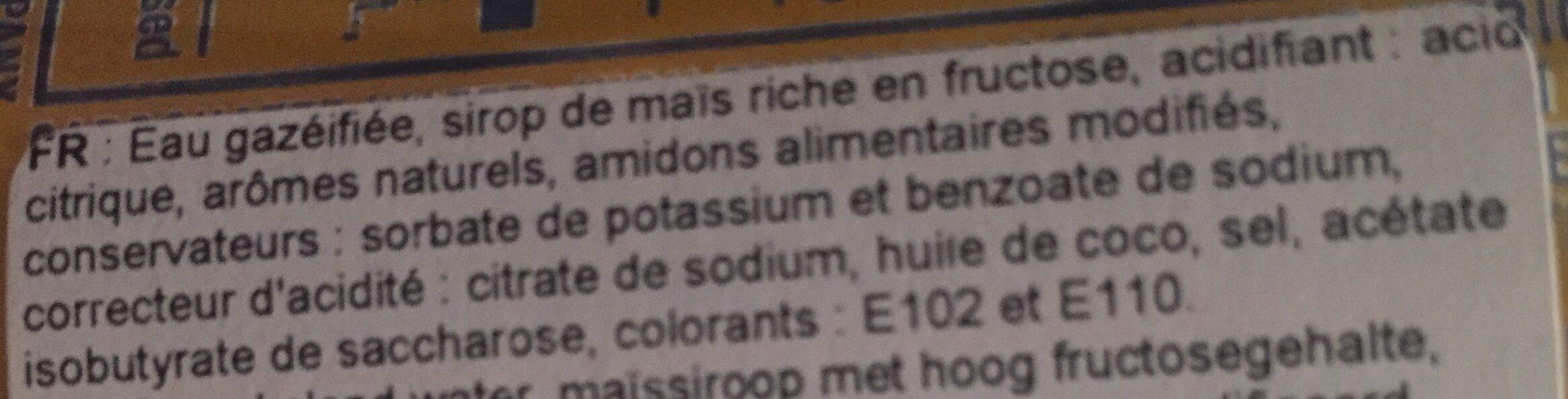 fanta ananas - Ingrédients - fr