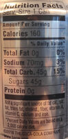 Root beer - Informations nutritionnelles
