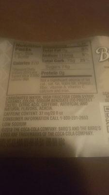 barks root beer - Nutrition facts - en