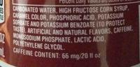 pibb extra - Ingredients