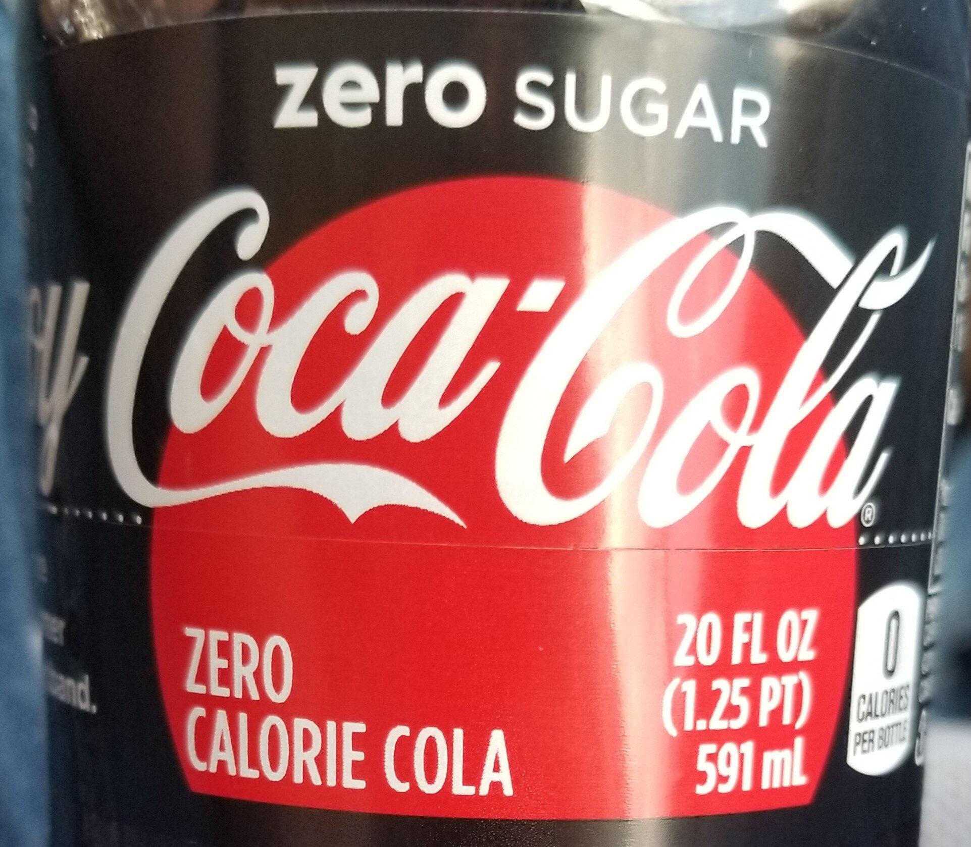 Coca-cola Zero Cola 20 Oz - Product - en