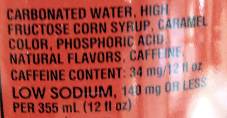 Coca-Cola - Ingredienti - en