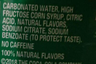 Sprite No Caffeine Lemon-lime Soda - Ingredienti - en