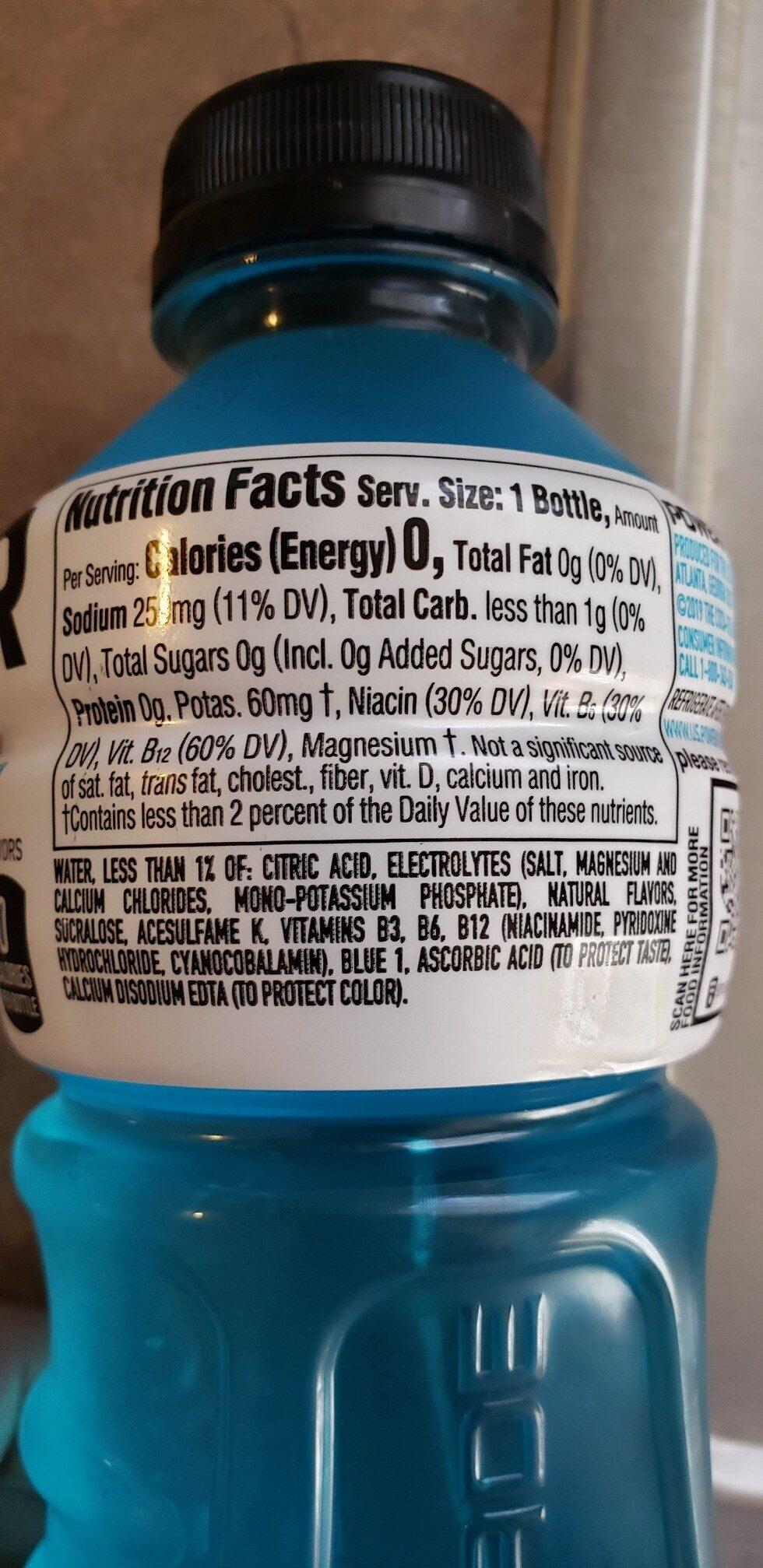 Zero mixed berry sports drink - Ingredients - en