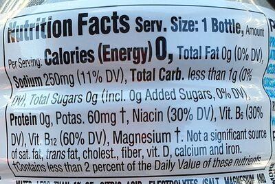Zero mixed berry sports drink - Nutrition facts - en