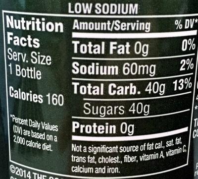 Coca Cola Life Nutrition Nutrition Facts Coca-cola