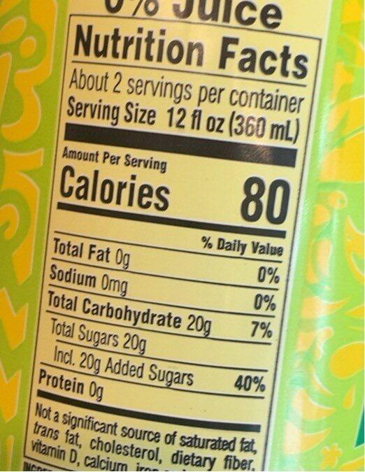 Tea tea - Nutrition facts - en