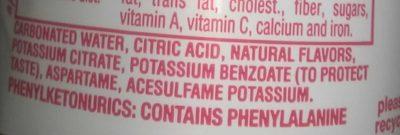 Sprite cherry zero - Ingrédients