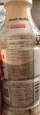 Dunkin' Donuts Iced Coffee French Vanilla - Nutrition facts