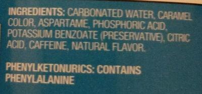 Diet Cola - Ingredients - en