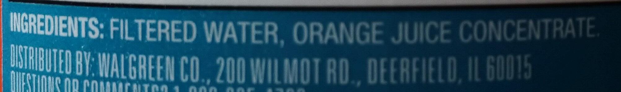 Original orange juice - Ingredients - en