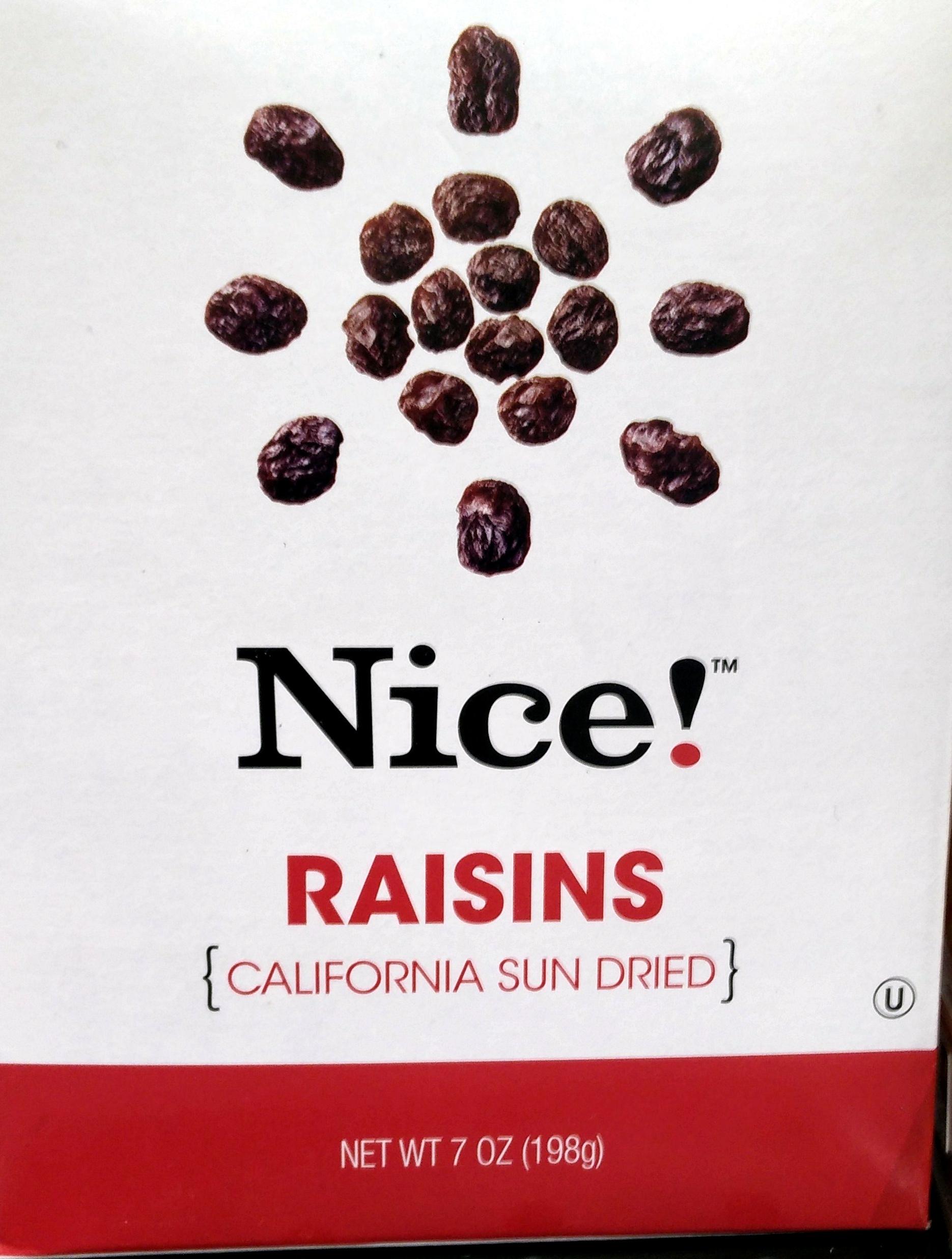Sun dried raisins - Product - en