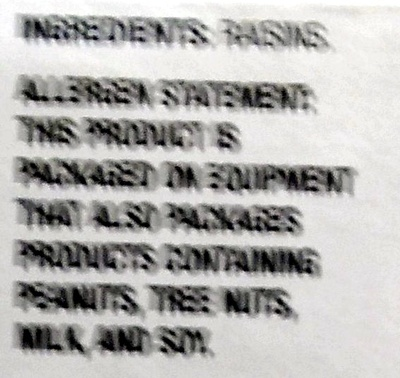 Sun dried raisins - Ingredients