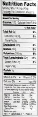 Sun dried raisins - Nutrition facts