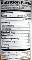 Cream of Chicken [Condensed Soup] - Nutrition facts